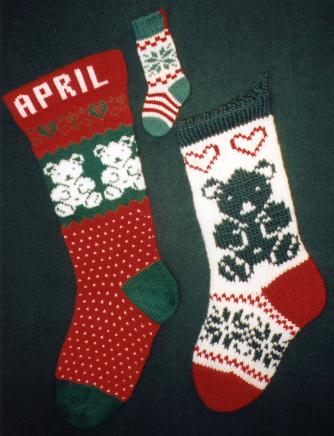 Knitting Pattern For Christmas Stocking Plain Knitted Christmas